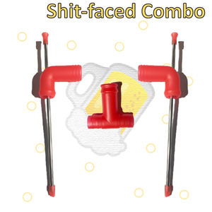 Shit-Faced Combo (2 stubby snorkels + 1 adapter) - Hammered.Co