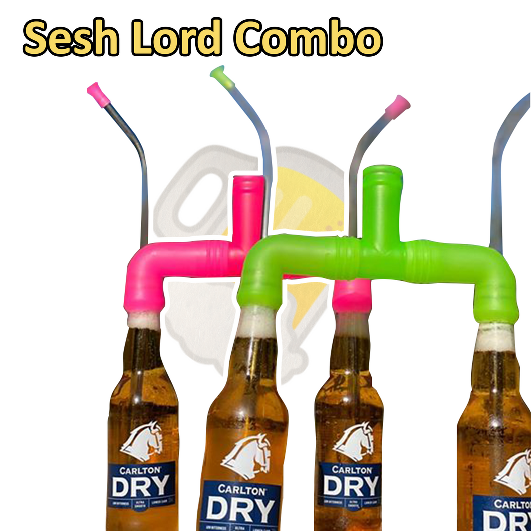 Sesh Lord Combo (4 stubby snorkels + 2 adapters) - Hammered.Co