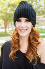 Load image into Gallery viewer, Slouch Beanie Thermal Fleece Lined - Black SOLD OUT