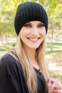 Slouch Beanie Thermal Fleece Lined - Black SOLD OUT