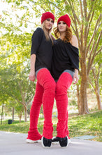 Load image into Gallery viewer, Thigh High Leg Warmers - Red
