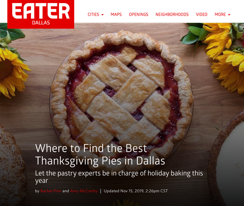 Eater Dallas: Where to Find the Best Thanksgiving Pies in Dallas cover
