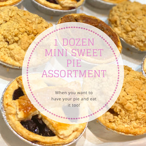 1 Dozen Mini Sweet Pie Assortment