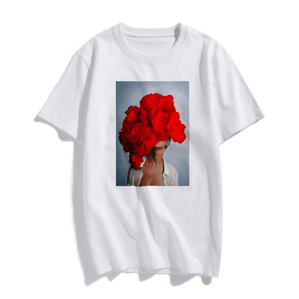 Tsubaki Peony Printed T-Shirt - Manifest Best Boutique