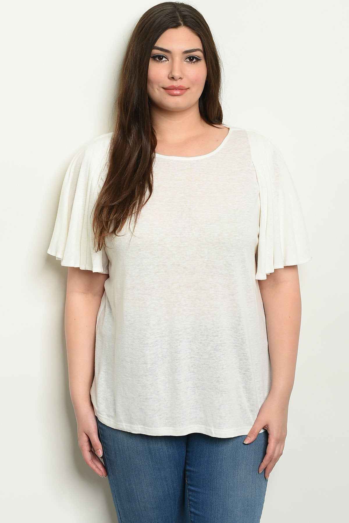 White Plus Size Top - Manifest Best Boutique