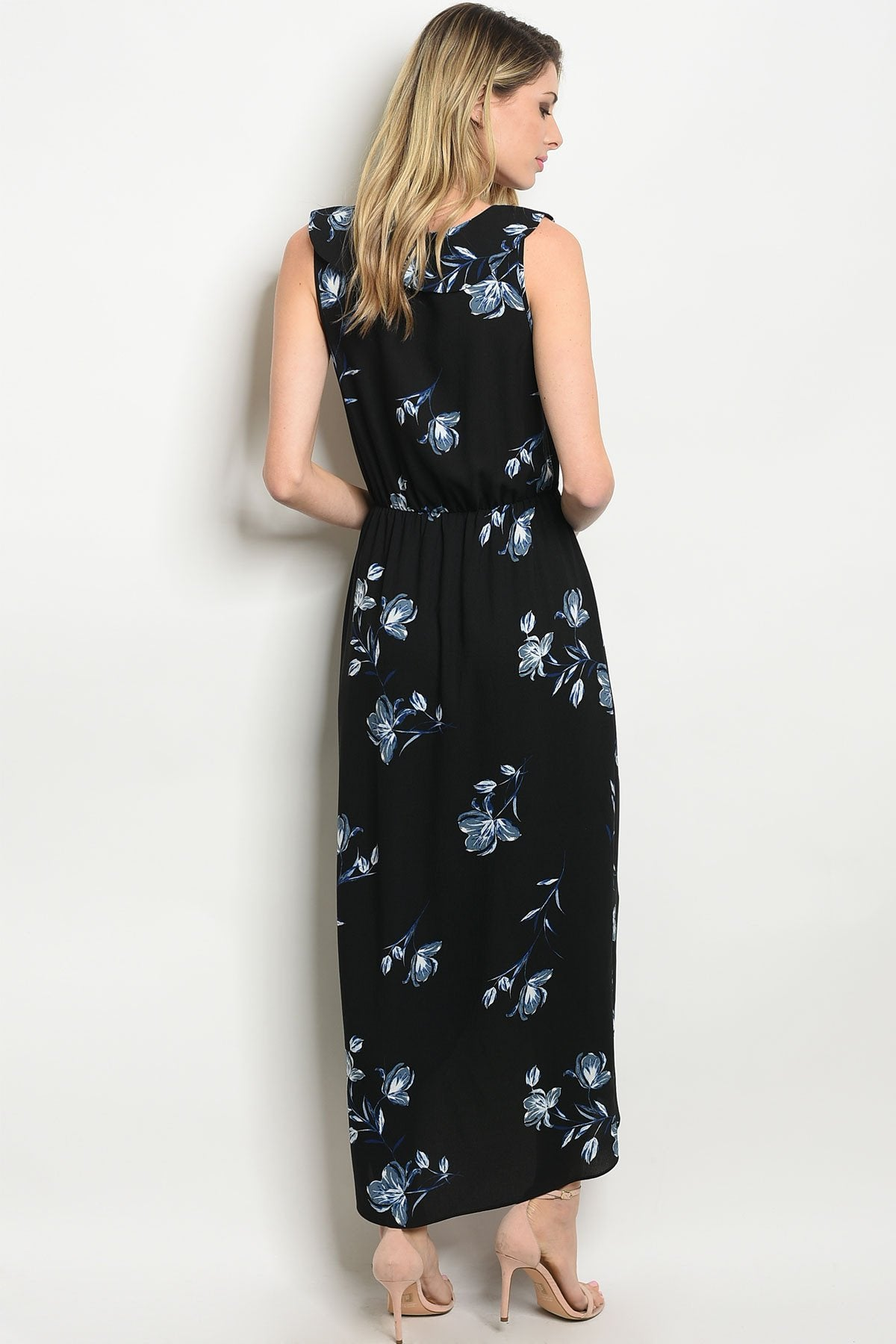 Black Floral Dress - Manifest Best Boutique