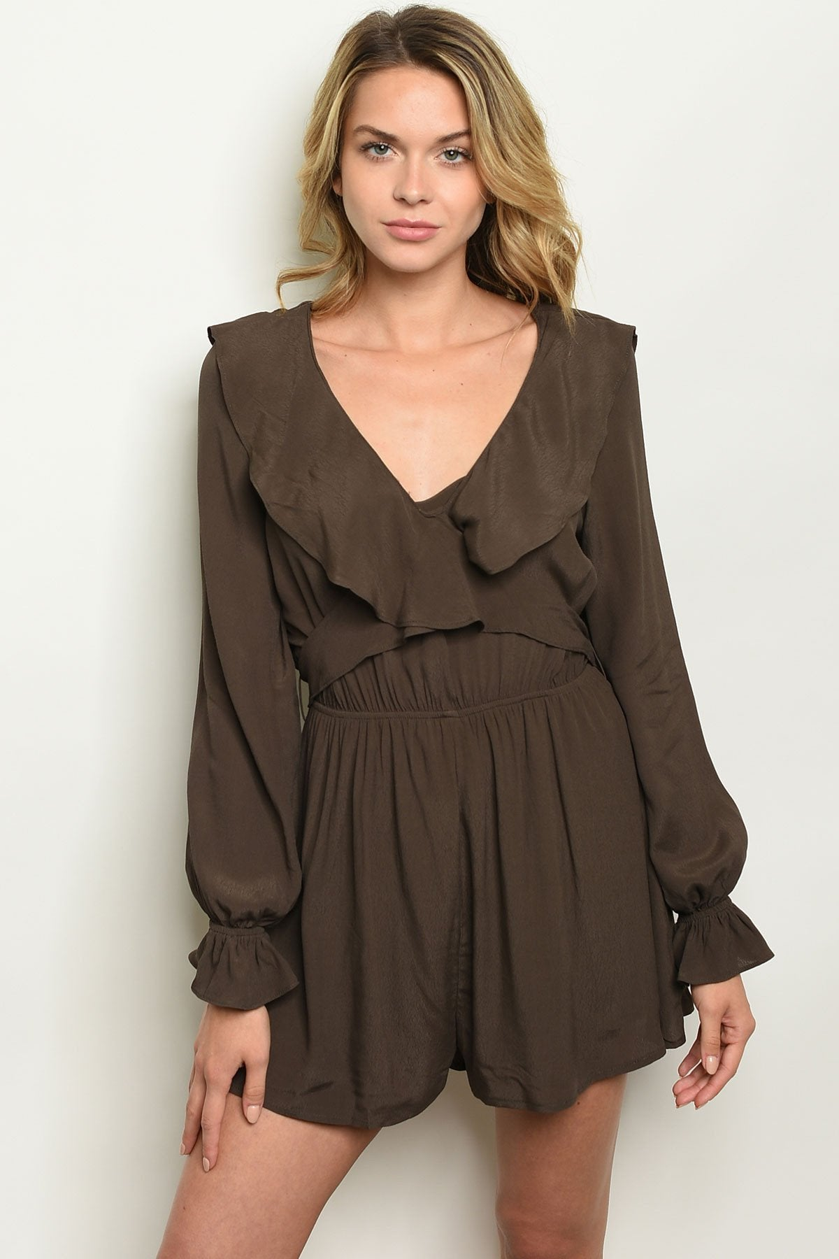 Womens Romper- Olive or Mustard - Manifest Best Boutique