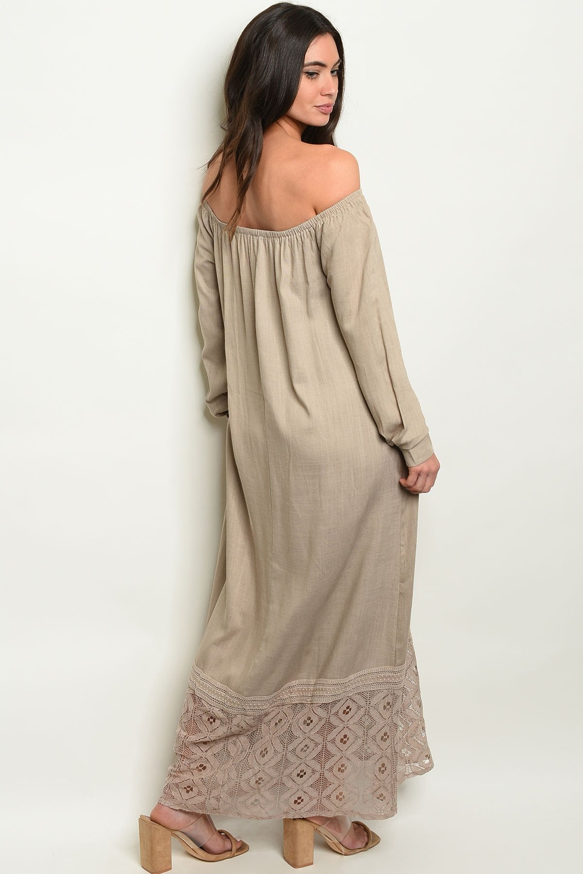 Taupe Dress - Manifest Best Boutique