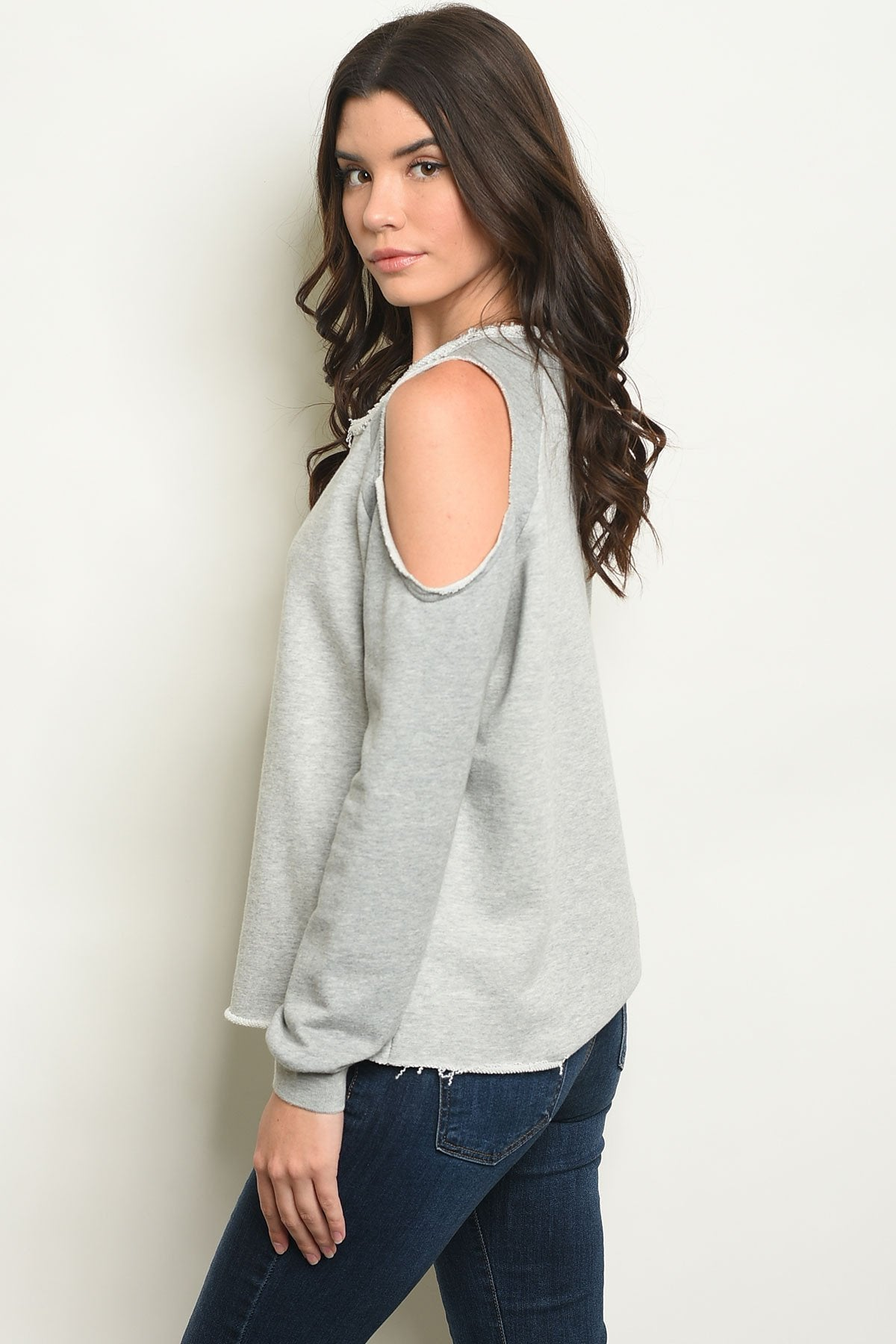 Gray Top - Manifest Best Boutique