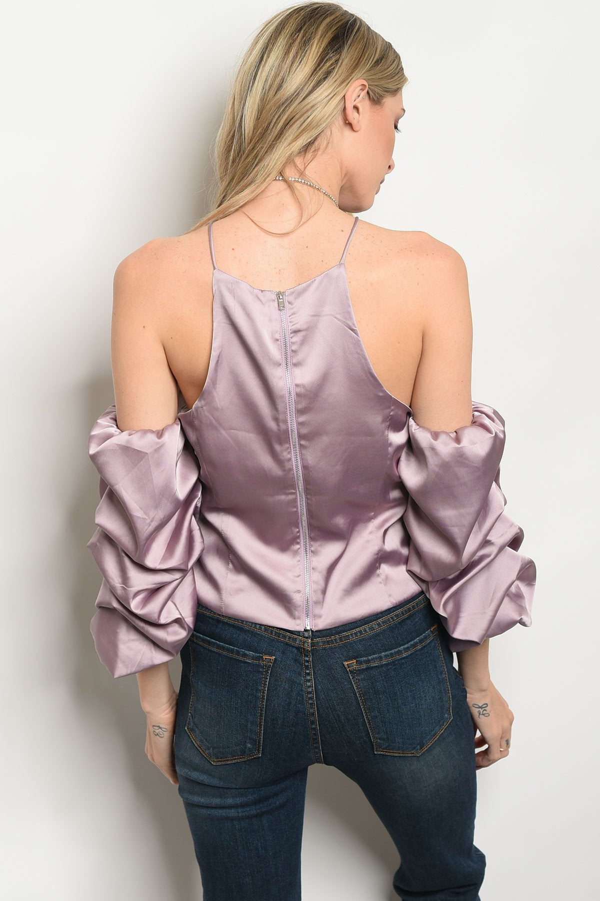 Womens Satin Top - Manifest Best Boutique