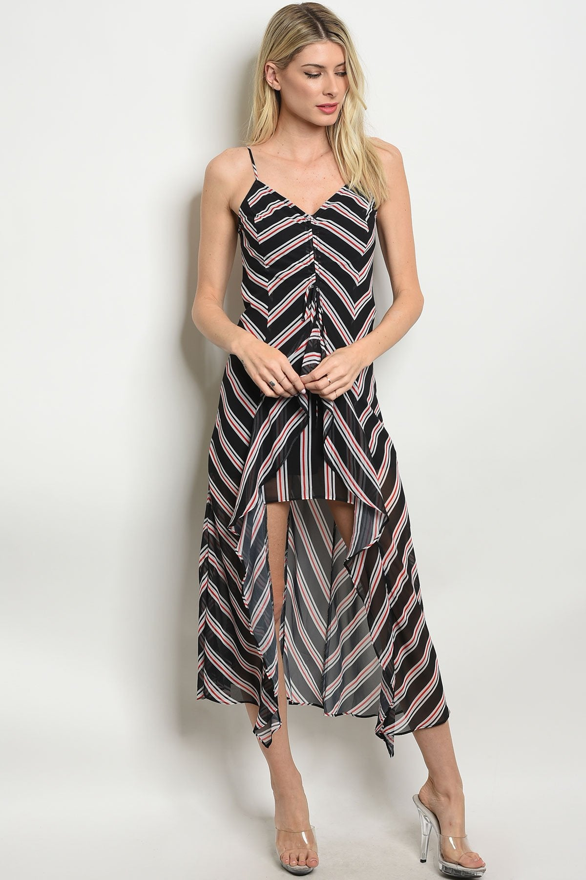 Womens Stripes Print Dress - Manifest Best Boutique