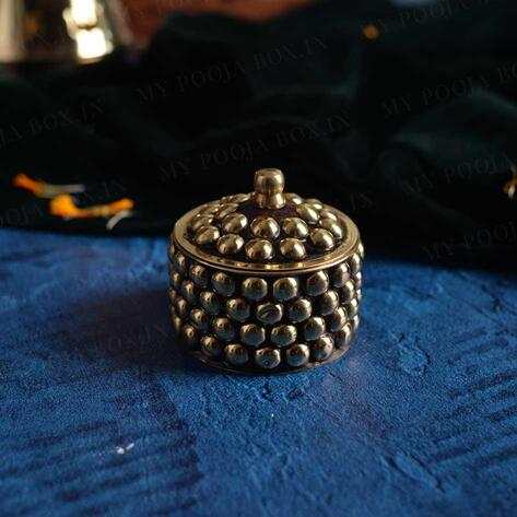 Traditional Brass Sindoor Container