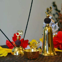 Golden Rudraksha Pooja Bell Set