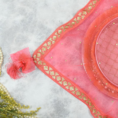 Dazzling Pink Thali Cover