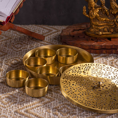 Unique Handcrafted Brass Pooja Samagridaan