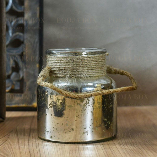 Fairy Dust Glass Jar Candle Holder
