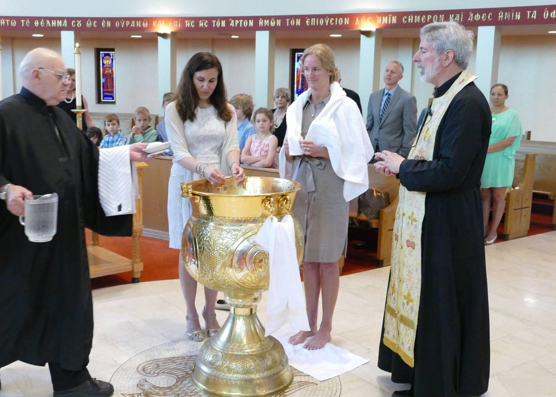 An Adult Orthodox Baptism