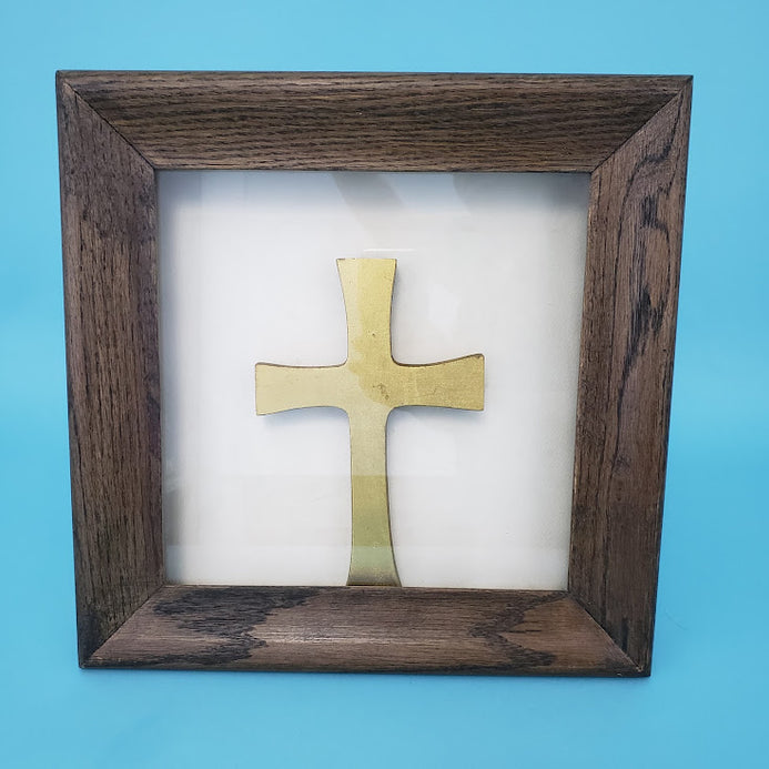 Solid Wood Crown Case - Stefanotiki with Cross