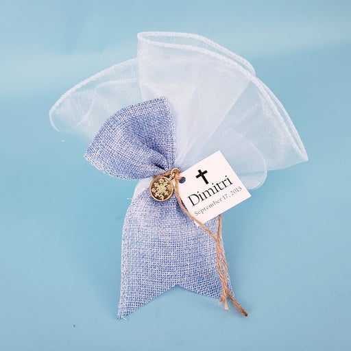 Grand Organza and Square Angled Bow Bomboniere
