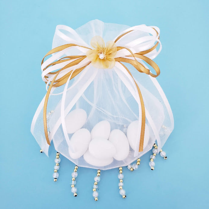 Organza Bead Bag with Bow, Centerpiece