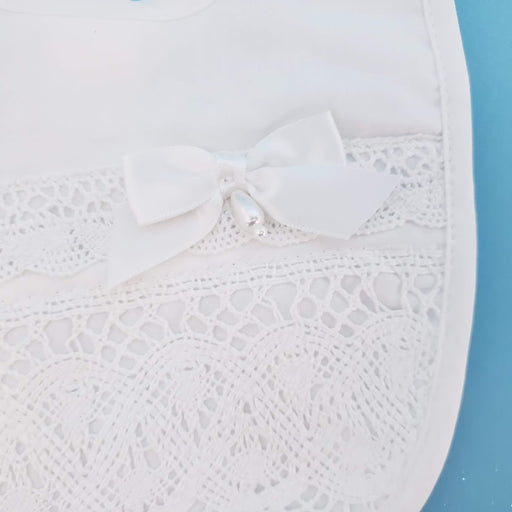 Girls - Cotton Bib with Cluny Trim