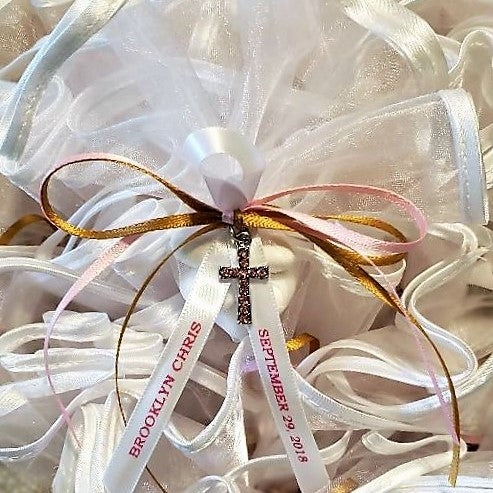Organza Double Streamer Favor