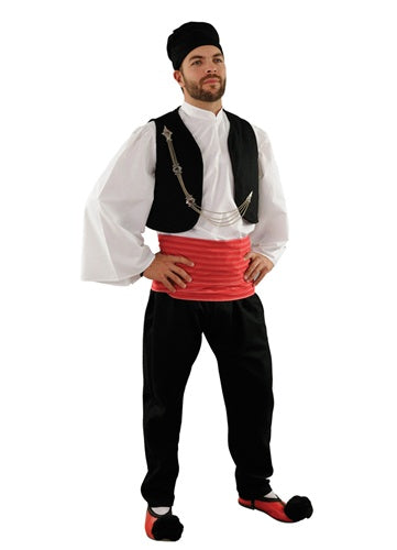 Vlachos Man Red Sash Costume