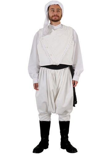 Lemnos Kehagias White Shirt Man Costume