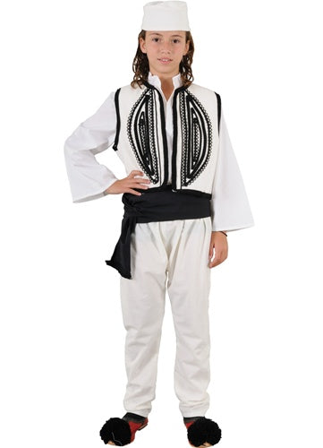 Epirus Boy White Costume