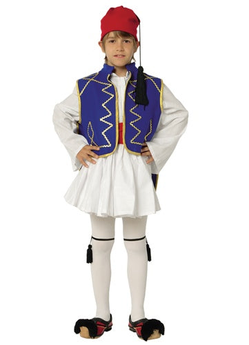 Tsolias Boy Blue w Gold Stripe Costume - Sizes:12 & 14