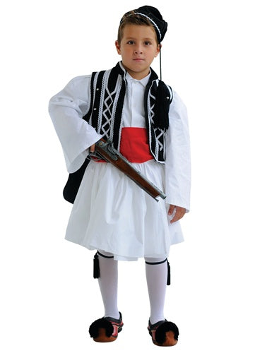 Tsolias Boy Black & White Costume (SIZE 8-16)