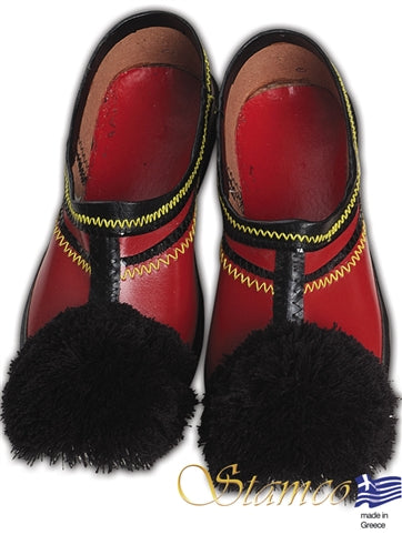 Tsarouchi Red Shoe - Sizes 35, 36, 37, 38, 39