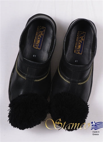 Tsarouchi Black Shoe - Sizes 40, 41, 42, 43, 44