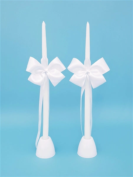 Simplicity Satin Tapered Candles - Set of 2