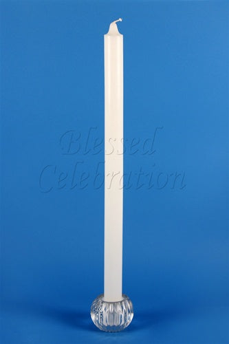 "Plain White Candle 22"" - Thick Stem"