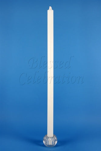 "Plain White Candle 30"" - Thick Stem"