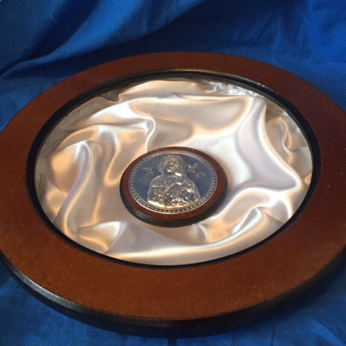 Circular Wooden Case With Icon