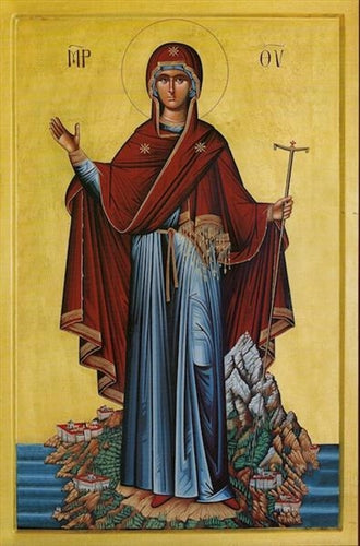 Theotokos the Abbess of Mt. Athos Orthodox Icon