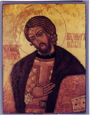 Saint Alexander Nevsky Orthodox Icon