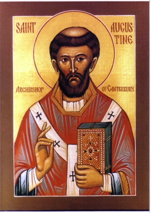 Saint Augustine of Canterbury Orthodox Icon