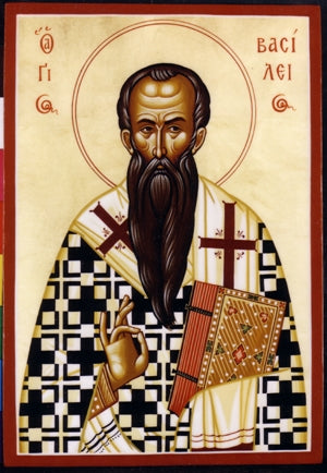 Saint Basil Greek Orthodox Icon