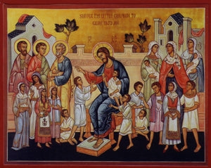 Christ, Suffer the Children Orthodox Icon