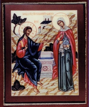 Christ and the Samaritan Woman Orthodox Icon