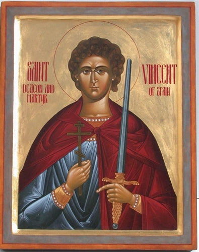 Saint Vincent Orthodox Icon