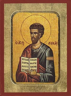 Luke the Apostle and Evangelist Greek Orthodox Icon