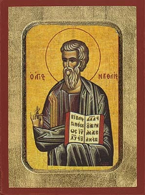 Matthew the Apostle and Evangelist Greek Orthodox Icon