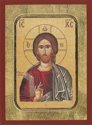 Christ Blessing Greek Orthodox Icon