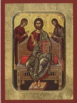Deesis Greek Orthodox Icon