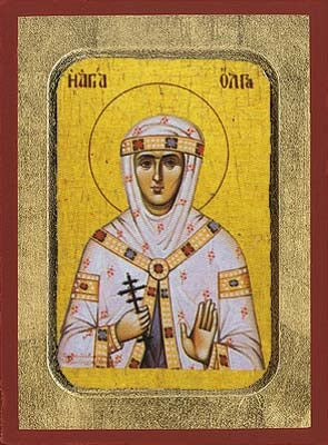 Saint Olga Greek Orthodox Icon