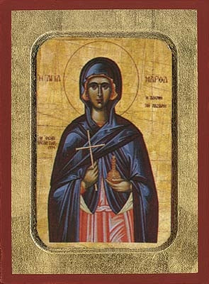 Saint Martha Sister of Lazarus Greek Orthodox Icon